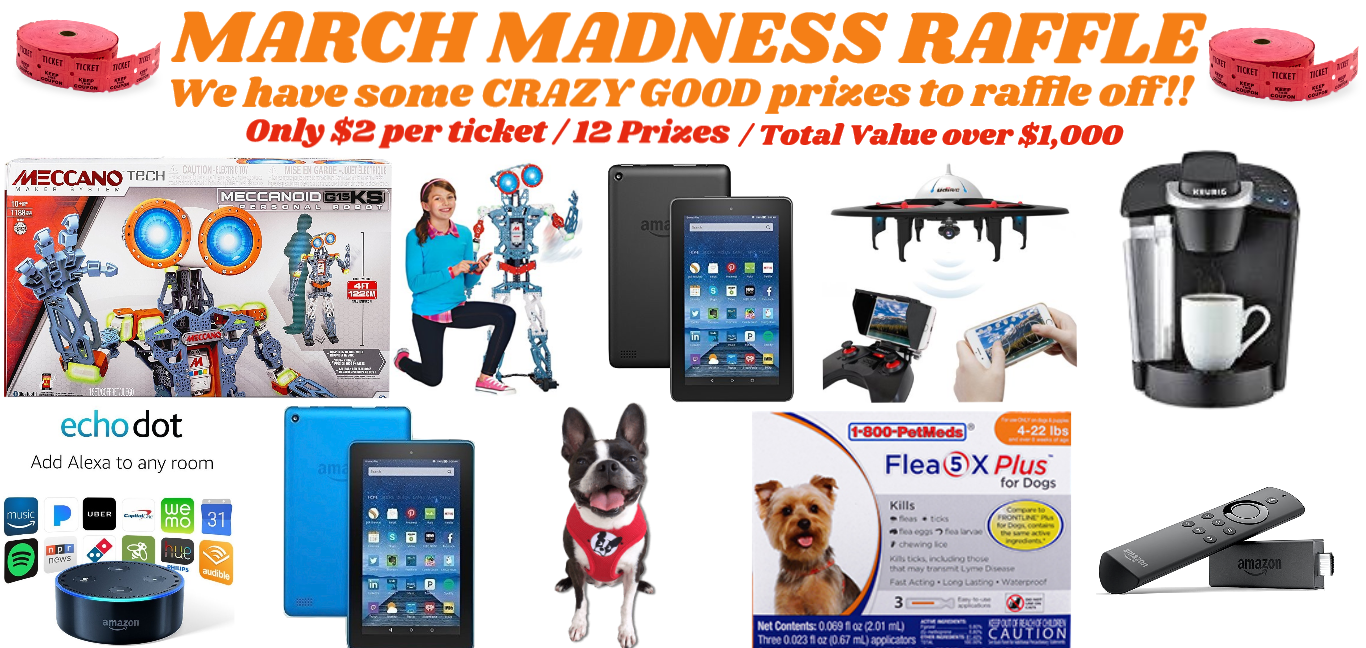 March Madness Raffle Prizes